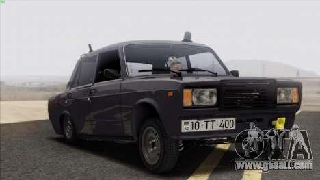 VAZ 2107 Avtosh Style for GTA San Andreas side view