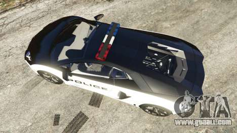 GTA 5 Lamborghini Aventador LP700-4 Police back view
