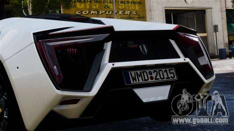 Lykan Hypersport 2015 EPM for GTA 4 back view
