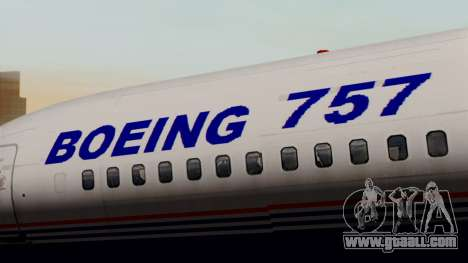 Boeing 757-200 (N757A) for GTA San Andreas back view