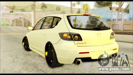 Mazdaspeed 3 Daglow v2 for GTA San Andreas left view