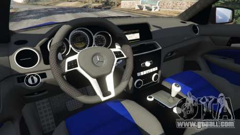 GTA 5 Mercedes-Benz C63 AMG 2012 LCPD right side view