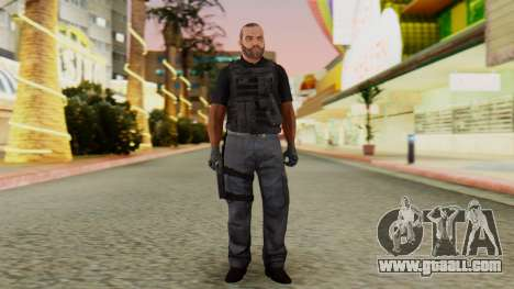 [GTA5] BlackOps2 Army Skin Black for GTA San Andreas second screenshot