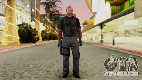 [GTA5] BlackOps2 Army Skin Black for GTA San Andreas second screenshot