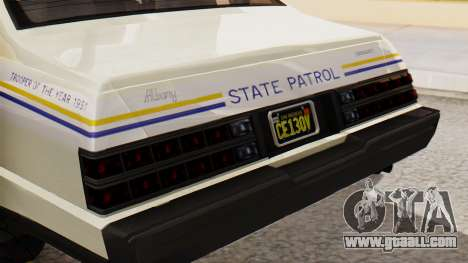 GTA 5 Albany Esperanto Police Roadcruiser IVF for GTA San Andreas back view
