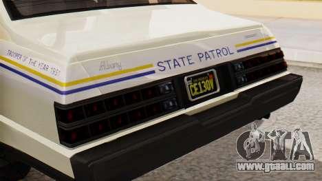 GTA 5 Albany Esperanto Police Roadcruiser IVF for GTA San Andreas back view