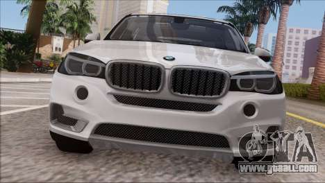 BMW X5 F15 BUFG Edition for GTA San Andreas back view