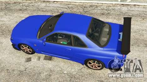 Nissan Skyline R34 GT-R 2002 v0.8 [Beta] for GTA 5