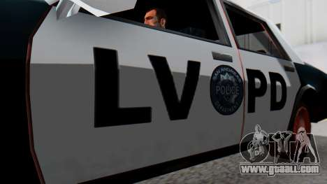 Police LV with Lightbars for GTA San Andreas right view