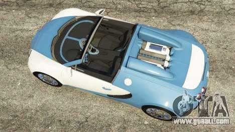 Bugatti Veyron Grand Sport v2.0 for GTA 5