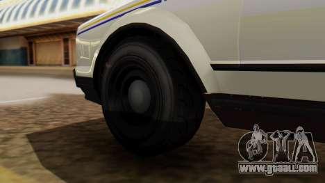 GTA 5 Albany Esperanto Police Roadcruiser for GTA San Andreas back left view