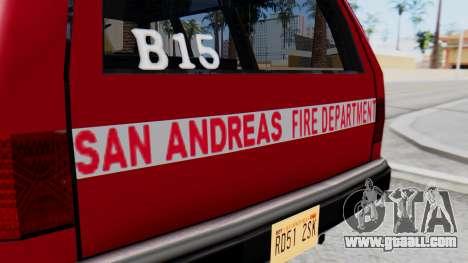 FDSA Fire SUV for GTA San Andreas right view