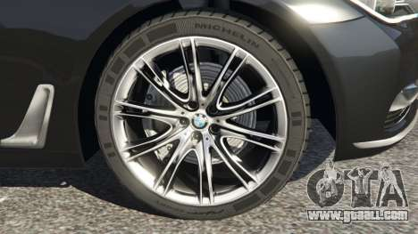 GTA 5 BMW 750Li 2016 rear right side view