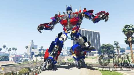GTA 5 The Statue Of Optimus Prime