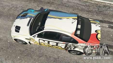 GTA 5 BMW M3 GTR E46 PJ4 back view