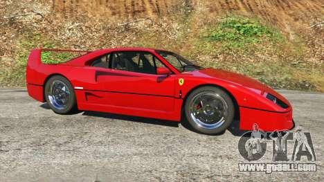 GTA 5 Ferrari F40 1987 v1.1 left side view