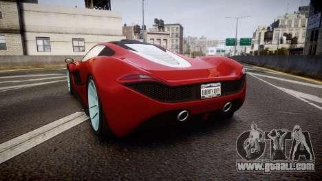 GTA V Progen T20 for GTA 4 back left view