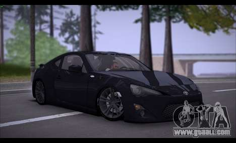 Toyota GT86 2012 BUFG Edition for GTA San Andreas left view