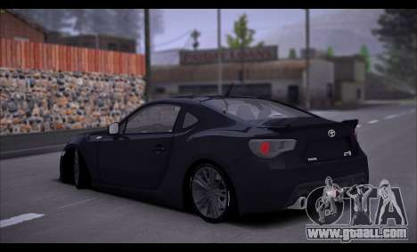 Toyota GT86 2012 BUFG Edition for GTA San Andreas right view