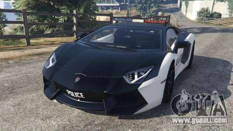Lamborghini Aventador LP700-4 Police v3.5 for GTA 5