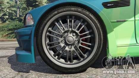 GTA 5 BMW M3 GTR E46 PJ1 rear right side view