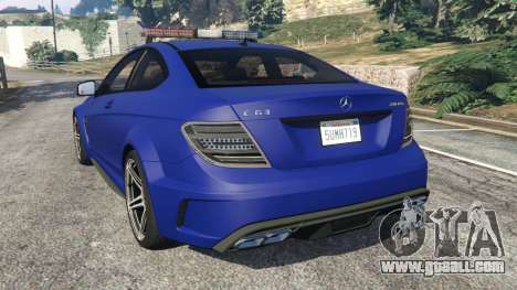 GTA 5 Mercedes-Benz C63 AMG 2012 LCPD rear left side view