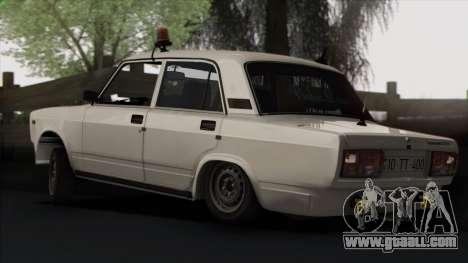 VAZ 2107 Avtosh Style for GTA San Andreas wheels