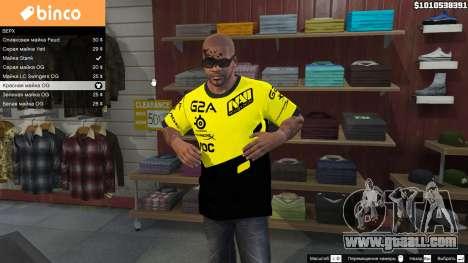 GTA 5 T-shirt for Natus Vincere Franklin
