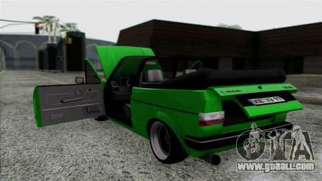 Volkswagen Golf Cabrio VR6 for GTA San Andreas inner view