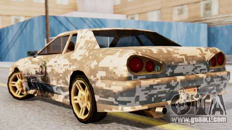 Elegy Contract Wars U.S.E.C Vinyl for GTA San Andreas left view