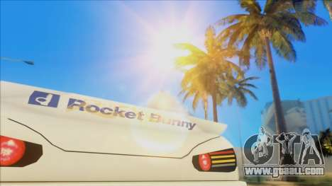 Elegy Rocket Bunny Edition for GTA San Andreas inner view
