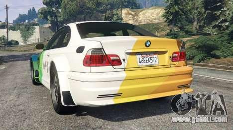 GTA 5 BMW M3 GTR E46 PJ1 rear left side view