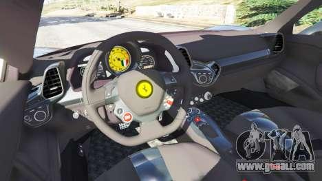 GTA 5 Ferrari 458 Italia v1.0.4 rear right side view