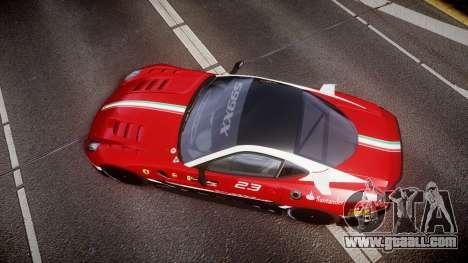 Ferrari 599XX 2010 Scuderia Ferrari for GTA 4 right view