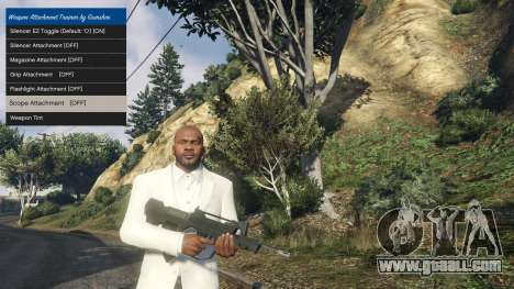 Tuning accessories for weapons 1.1 for GTA 5