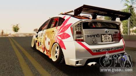 Toyota Prius JDM 2011 Itasha for GTA San Andreas left view