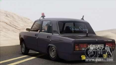 VAZ 2107 Avtosh Style for GTA San Andreas right view