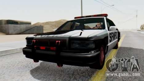 Police SF with Lightbars for GTA San Andreas