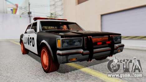 Police LV with Lightbars for GTA San Andreas