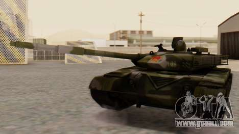 Type 99 for GTA San Andreas back left view
