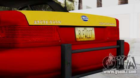 Dolton Broadwing Taxi for GTA San Andreas back view