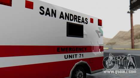 Ambulance with Lightbars for GTA San Andreas back view