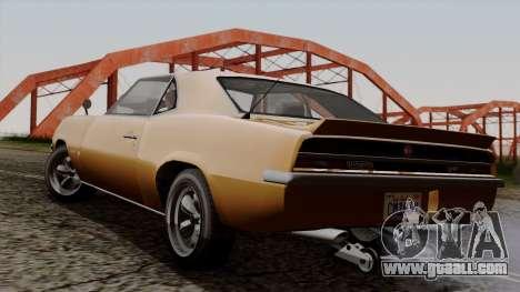 GTA 5 Declasse Vigero for GTA San Andreas left view