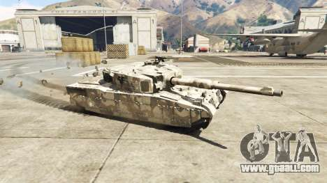 GTA 5 Miniature Rhino tank left side view