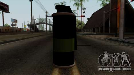 Original HD Tear Gas for GTA San Andreas third screenshot