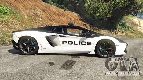 GTA 5 Lamborghini Aventador LP700-4 Police left side view