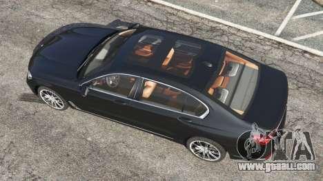 GTA 5 BMW 750Li 2016 back view