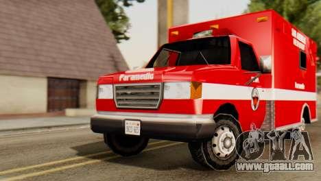 SAFD Ambulance for GTA San Andreas right view