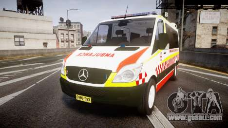 Mercedes-Benz Sprinter NSW Ambulance [ELS] for GTA 4