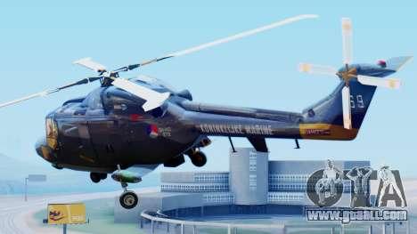Westland SH-14D Lynx for GTA San Andreas left view